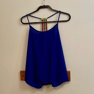 Bella D. Dark Blue Racerback Tank Top Sz Small